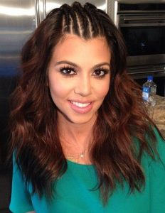 Kourtney Kardashian Latest, Braided, Updo hairstyles Pictures