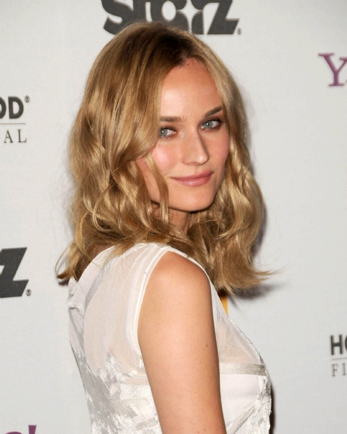 Diane Kruger Vintage, Braid, Updo, Medium Hairstyles Pictures