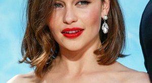 Emilia Clarke New, Short, Bob, Shoulder Length Hairstyles Pics