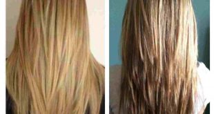 V Shaped Haircut With Layers Back View