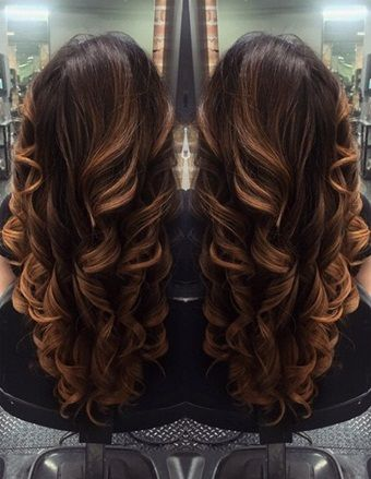 V Shaped Haircut With Layers Back View With Curls