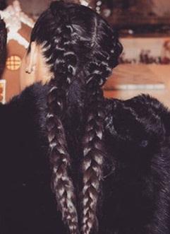 Kim Kardashian New Braided Hair 2017 Pictures