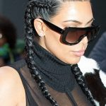 Kim Kardashian New Braided Hair 2017 Pictures