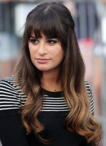 lea michele ombre hairstyle glee