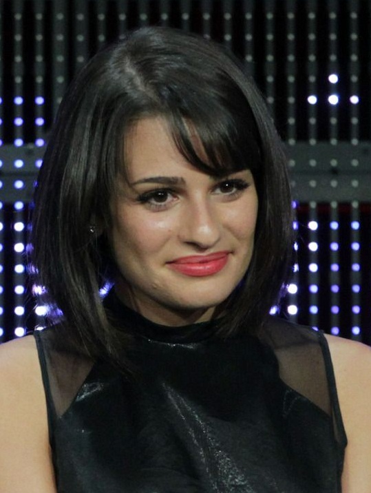 Swell Lea Michele Updo Short Glee Long New Hairstyles Pictures Natural Hairstyles Runnerswayorg