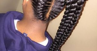 African American Long Hairstyles 2018 Twisted braid