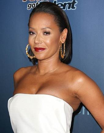 Mel B New Bob Curly Hairstyles Pictures