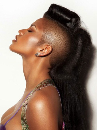 Shaved Mohawk With Box Braids Style Back Sides Pictures