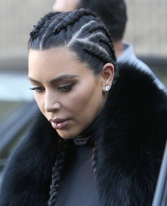 Kim Kardashian Cornrow Braid Hairstyle 2017 How To Create