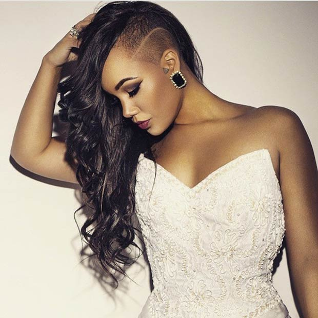Trendy Shaved Hairstyles For Black Women 2018