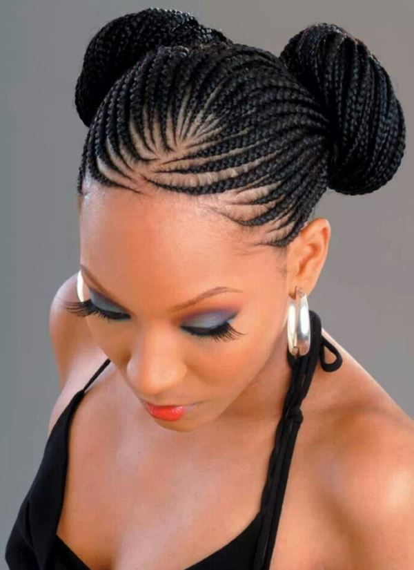 Cornrows Hairstyles For Black Women In Bun Pictures