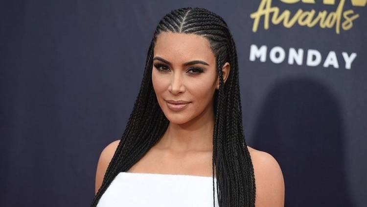 Kim Kardashian New Braided Hair 2020 Pictures