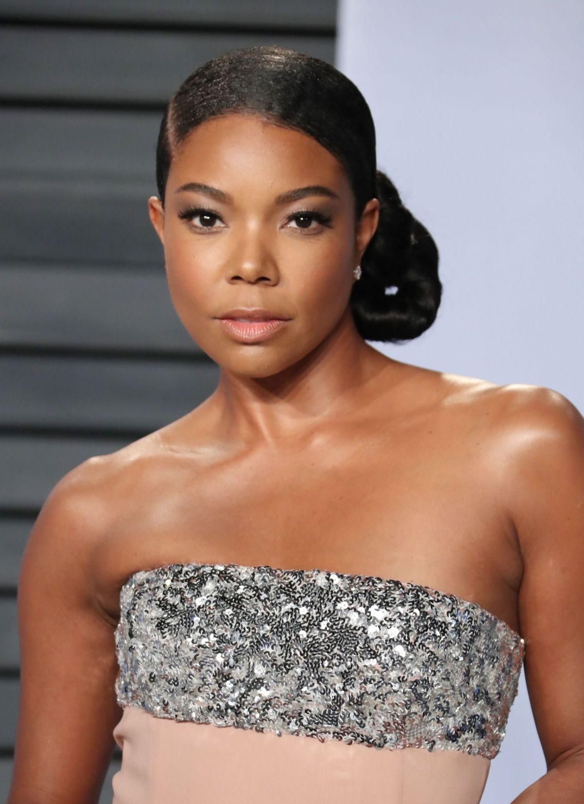 Gabrielle Union Hairstyles 2018 Back Bun