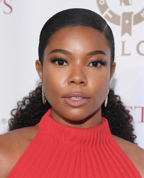 Gabrielle Union Hairstyles 2018 Back Comb With Curly Pony