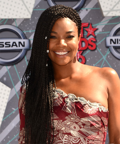 Gabrielle Union Hairstyles 2018 Braided Layers