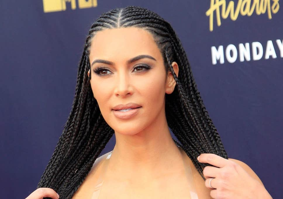 Kim Kardashian New Braided Hair 2020 Pictures