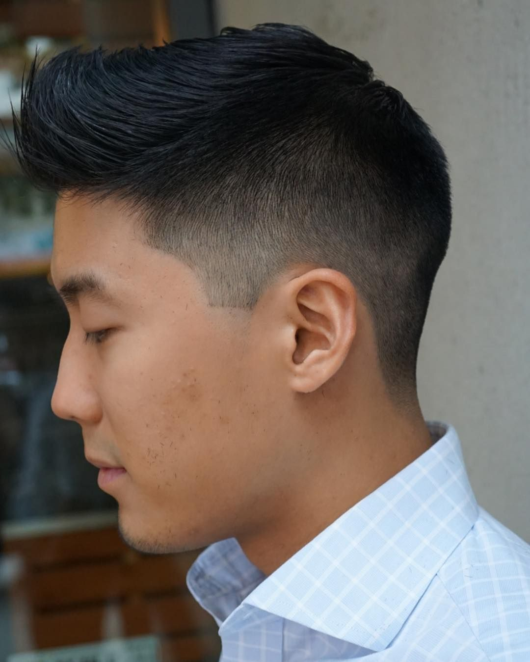 Low Fade Comb Over Korean Boy Hairstyle 2019