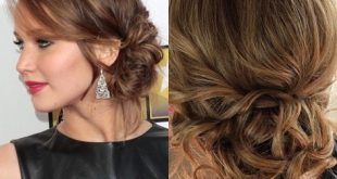 Messy Side Bun Hairstyles For Short Hair 2018