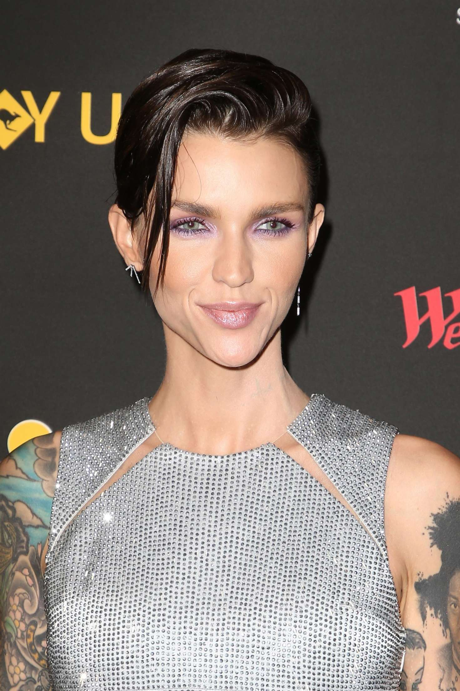 Ruby Rose New Haircut 2018 One Side Flik