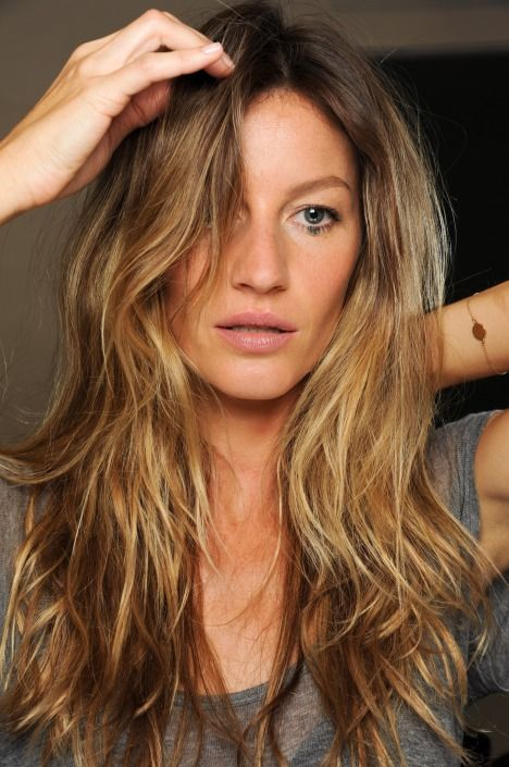 Ombre with brunet and blonde color: