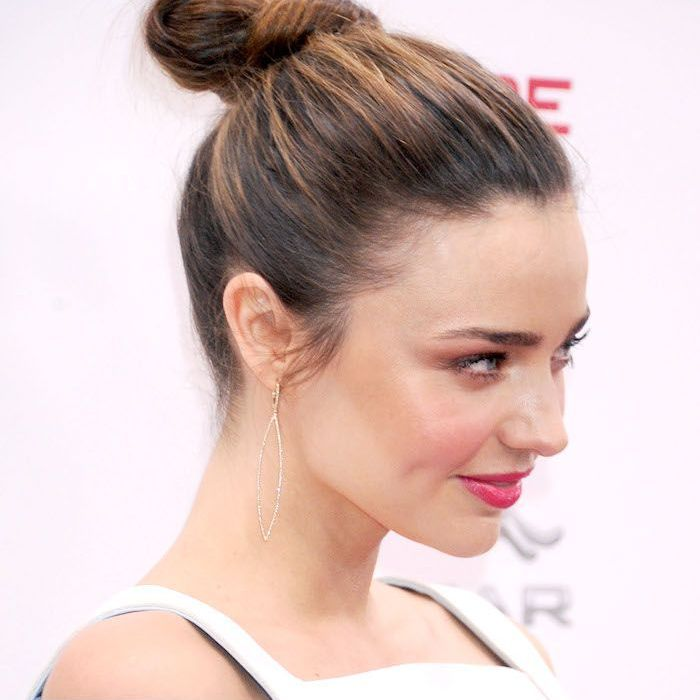 Messy Bun Updo Hairstyle