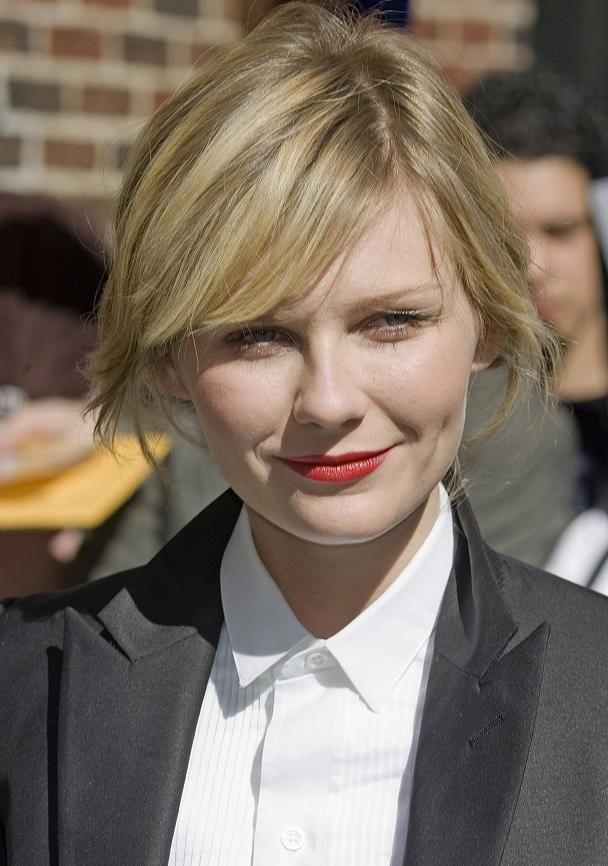 Kirsten Dunst Side Swept Blonde Hairstyle