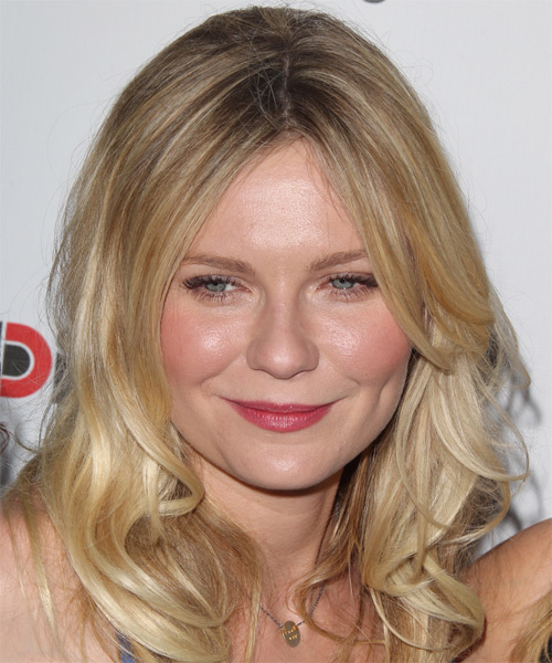 Kirsten Dunst long hairstyle with mid hairline