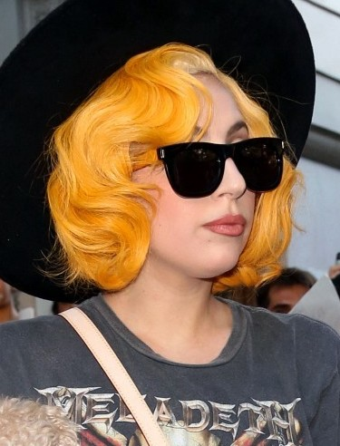 Lady Gaga Short Different Hairstyles 2019 Orange Waves