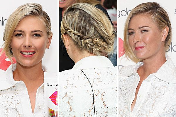 Maria Sharapova Hairstyle Plaited braided