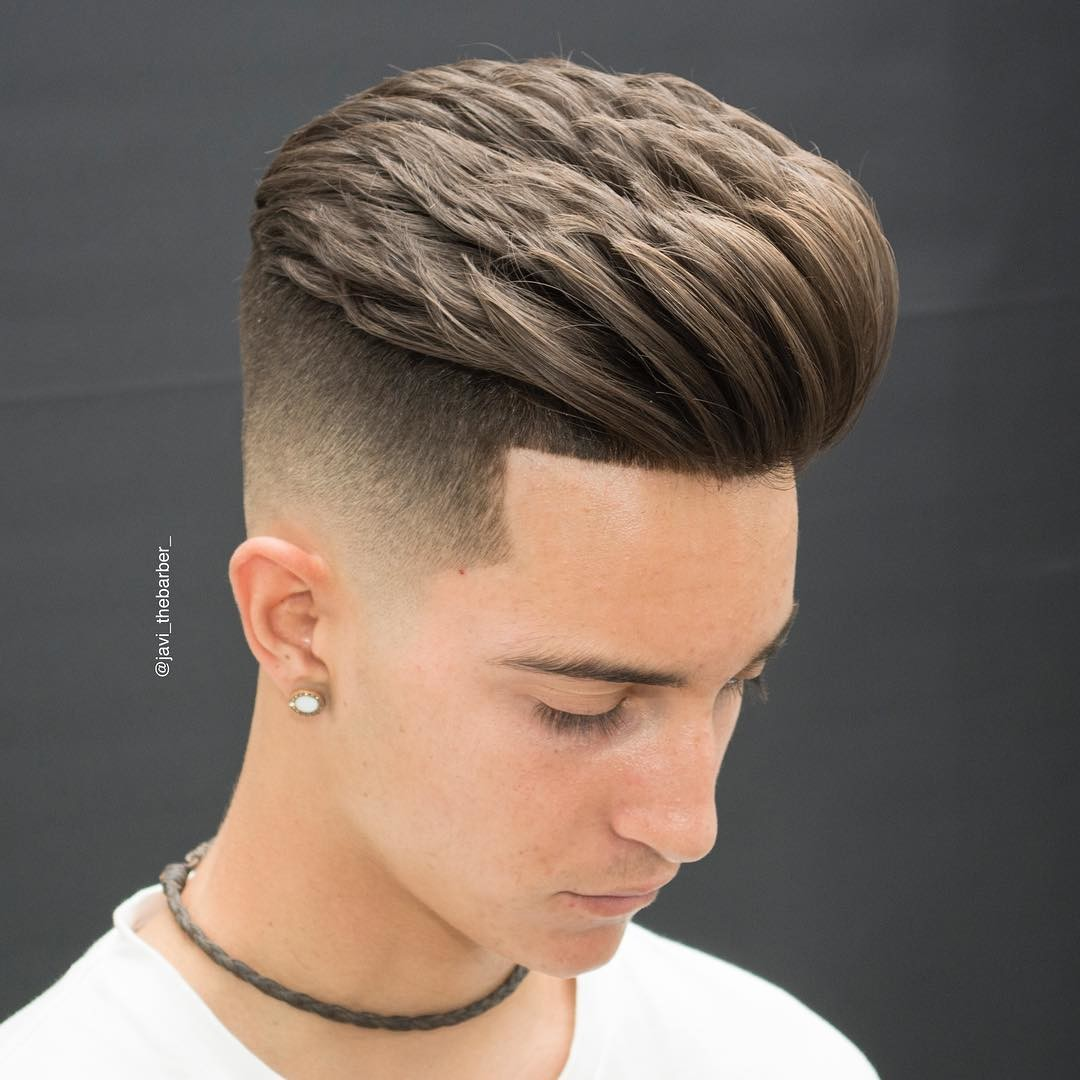 Low Skin Fade with Brushed Up Fringe