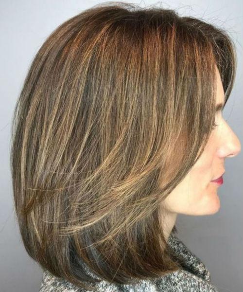 Medium Bob Hairstyles With Bangs And Layers 2020