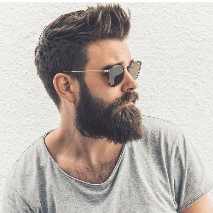 Mens Hairstyle With Beard Fashion Hair 2019 fashion trends