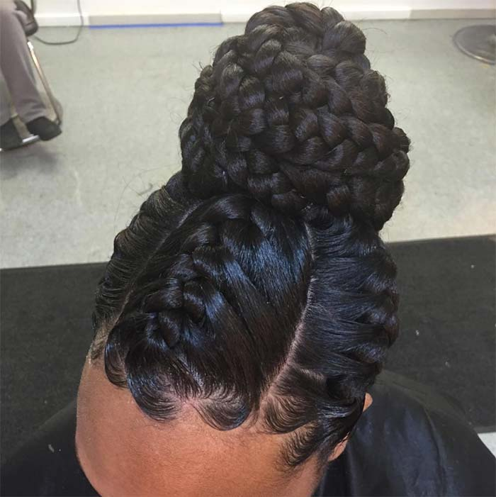 Goddess Braids Hairstyles 2018 Updo Bun