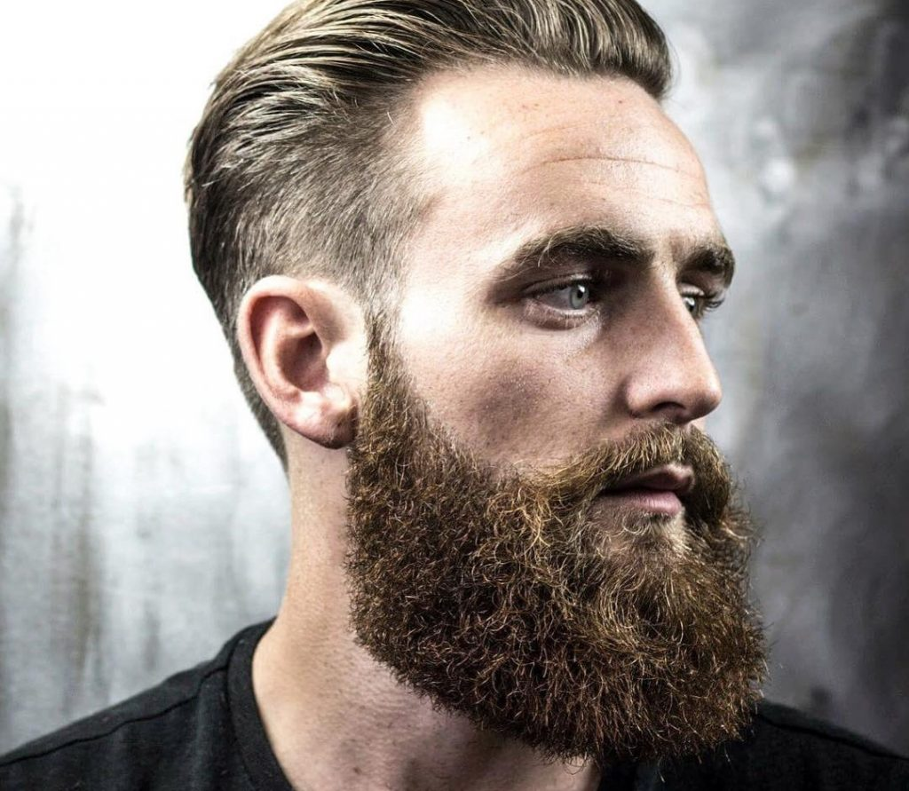 Men's Hairstyle With Beard 2019 Backcomb