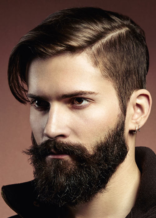 Men's Hairstyle With Beard 2019 In Black