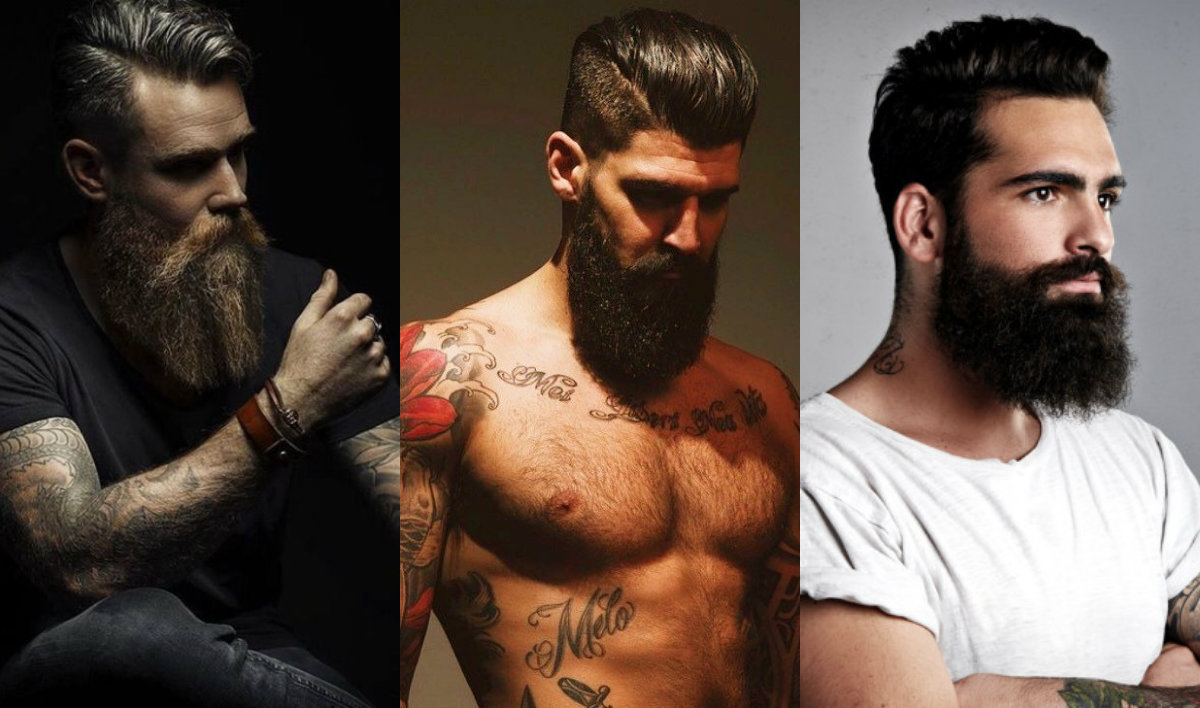 Men's Hairstyle With Beard 2018 Pictures