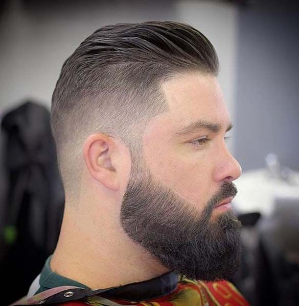 Men's Hairstyle With Beard 2019 Side Shaved