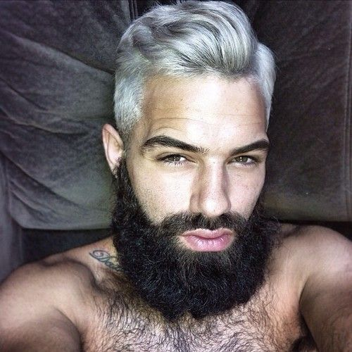 Men's Hairstyle With Beard 2019 With Dye Colors