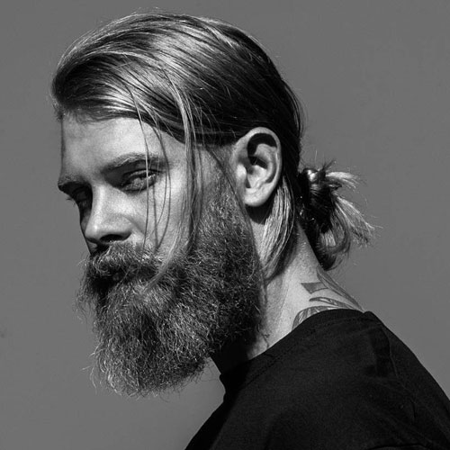 Men's Hairstyle With Beard 2019 With Pony Tail