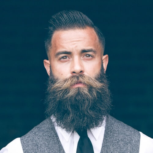 Men's Hairstyle With Beard 2019 With elegant puff