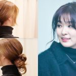 Korean Ponytail Hairstyle With Bangs 2019 For Round Face