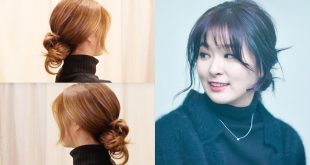 Korean Ponytail Hairstyle With Bangs 2019 For Round Face new